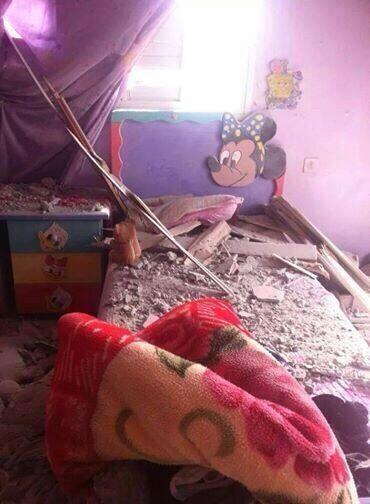 I guess Hamas had hidden the rockets under the bed.